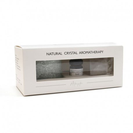 LÁMPARA DE CRISTAL NATURAL AROMATERAPIA